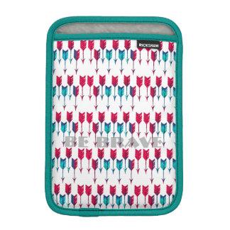 Rote Türkis-Pfeile Stammes- Boho Feder-Böhme iPad Mini Sleeve