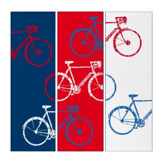Rote u. Blau-, grafische u. coolefahrräder Triptychon