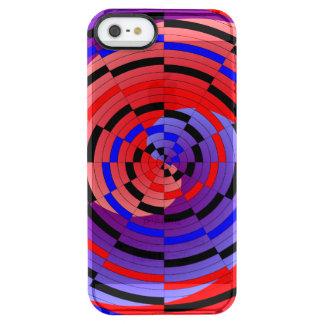 Rote u. blaue Zähler-Spirale Durchsichtige iPhone SE/5/5s Hülle