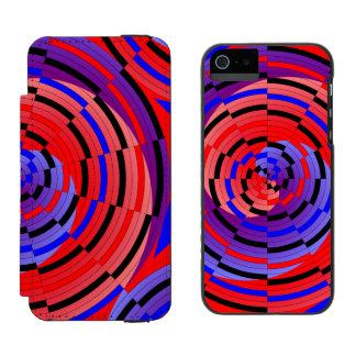 Rote u. blaue Zähler-Spirale Incipio Watson™ iPhone 5 Geldbörsen Hülle