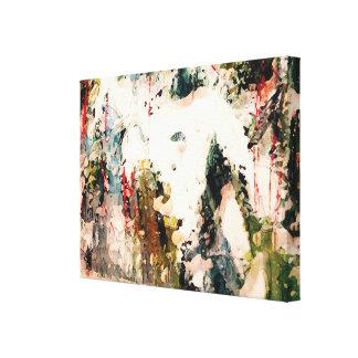 Rote und blaue abstrakte Natur-Malerei Galerie Faltleinwand