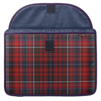Rote und blaue karierte Macbook Prohülse Sleeve Für MacBook Pro