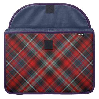 Rote und blaue karierte Macbook Prohülse Sleeves Für MacBook Pro