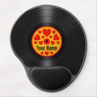 Rote und gelbe Herz-personalisierte Gel Mouse Pad