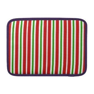 Rote und grüne Streifen MacBook Air Sleeve