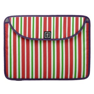 Rote und grüne Streifen MacBook Pro Sleeve