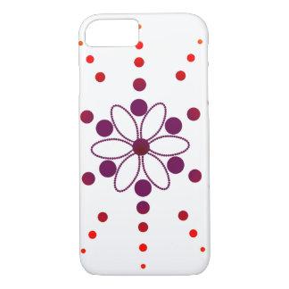 Rote und lila blumige Perlen iPhone 8/7 Hülle