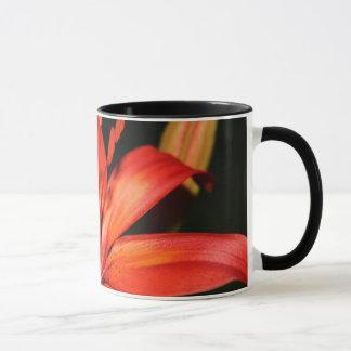 Rote und orange asiatische tasse