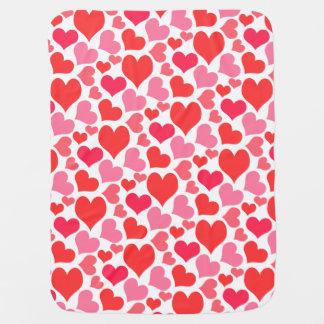 Rote und rosa Herzen des Valentines Tagesfür Liebe Puckdecke