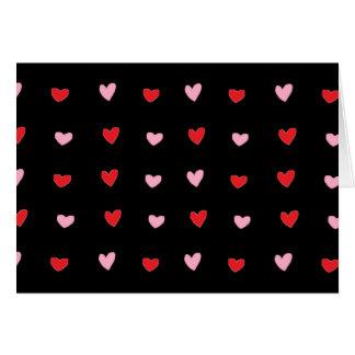 Rote und rosa Herzen Karte
