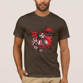 Rote und schwarze Collage Batmans T-Shirt