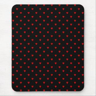 Rote und schwarze Herzen. Muster Mauspads