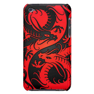 Rote und schwarze Yin Yang Chinese-Drachen Barely There iPod Cover