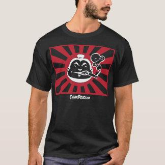 Rote und weiße Dojoikone auf dunkler T T-Shirt