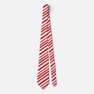Rote und weiße Zuckerstange Stripes Personalisierte Krawatten