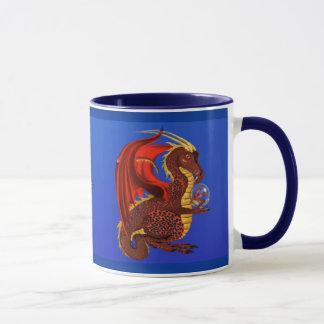 Rote Vermögens-Drache-Tasse Tasse