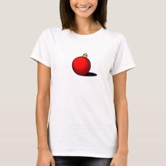 Rote Verzierung T-Shirt