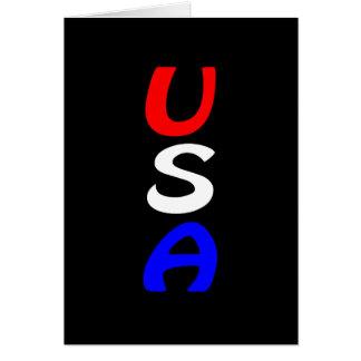 Rote, weiße u. blaue Karte USA