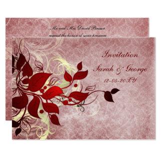 Rote Winterhochzeit Einladungskarten