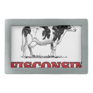 rote Wisconsin-Kuh Rechteckige Gürtelschnallen