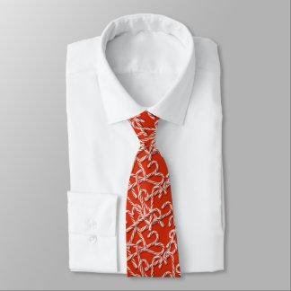 Rote Zuckerstange-WeihnachtsKrawatte Individuelle Krawatten