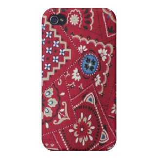 Roter Bandana-harter Muschel-Fall für iPhone 4 iPhone 4 Etui