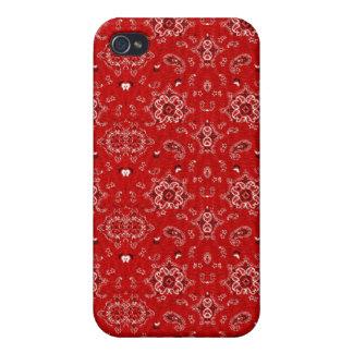 Roter Bandana-Speck-Kasten iPhone 4/4S Hüllen