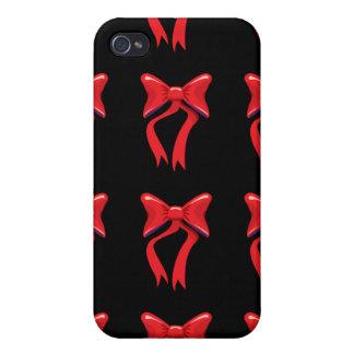 roter Bandschwarzhintergrund iPhone 4 Cover