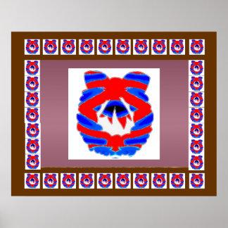 Roter blauer Diamant-Kranz n: GENIESSEN Sie Poster