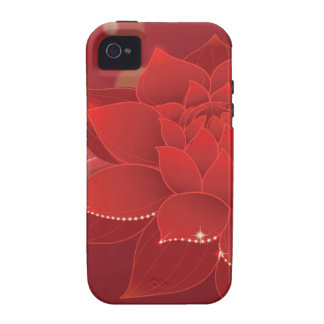 Roter Blumen-Traum Vibe iPhone 4 Case