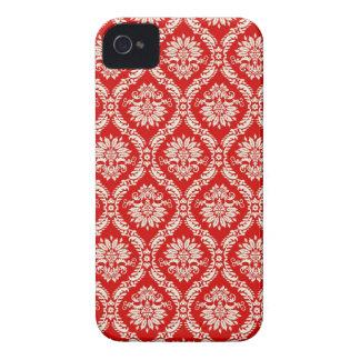 Roter Blumendamast iPhone Kasten iPhone 4 Cover