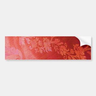 Roter Blumeneleganz-Autoaufkleber - kundengerecht