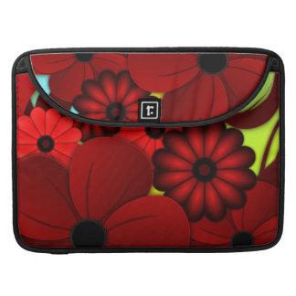 Roter BlumenHibiskus 15 Zoll Macbook Prohülsen MacBook Pro Sleeves