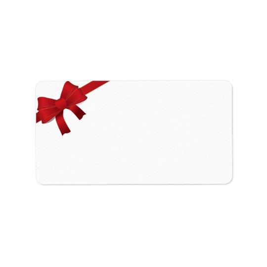 Roter Bogen-Weihnachtsfeiertag Adressaufkleber
