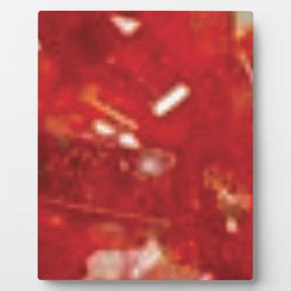 roter Bruchfelsen Fotoplatte