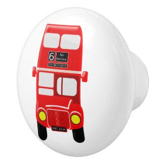 Roter Bus-Entwurf Keramikknauf