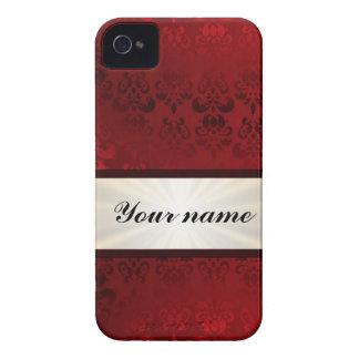 Roter Damast und Band iPhone 4 Case-Mate Hüllen