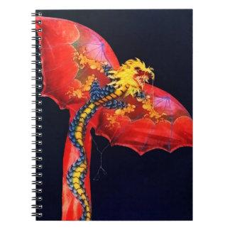 Roter Drache-Drachen Notizbuch