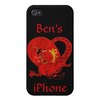Roter Drache iPhone 4 Kasten iPhone 4 Hüllen