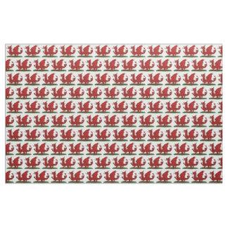 Roter Drache von Wales Stoff