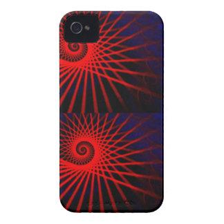 Roter Drehbeschleunigungskasten iPhone 4 Etuis