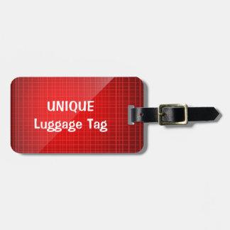 Roter einzigartiger personalisierter Gepäck-Umbau Kofferanhänger