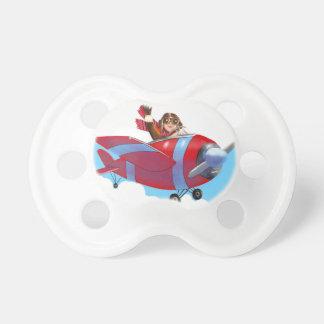 Roter Flugzeug-Schnuller Baby Schnuller