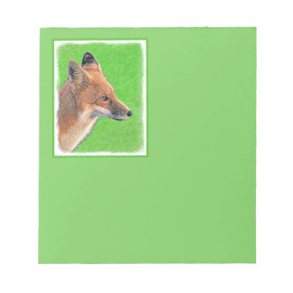 Roter Fox Notizblock