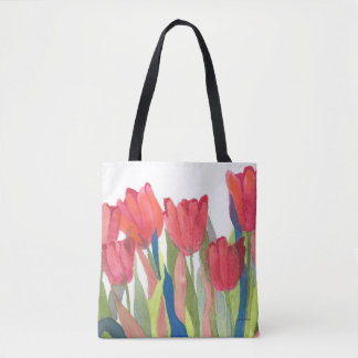 Roter Frühlings-Tulpe-Aquarell