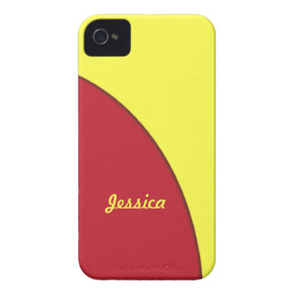 roter gelber Modkreis iPhone 4 Cover