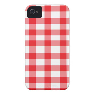 Roter Gingham iPhone 4 Hüllen