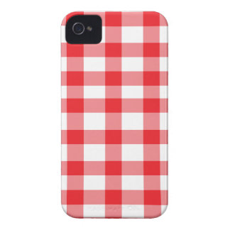 Roter Gingham iPhone 4 Etuis
