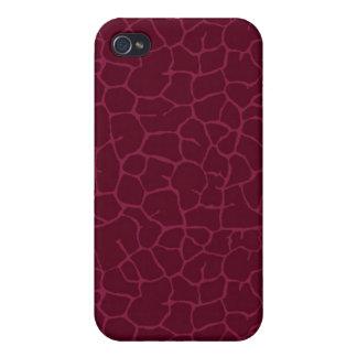 Roter Giraffendruck Hülle Fürs iPhone 4