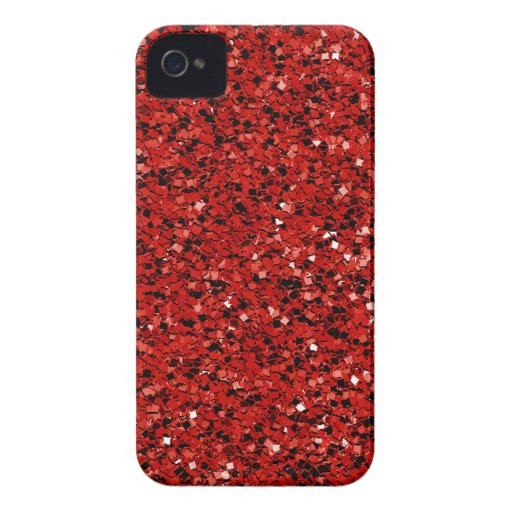 Roter Glitter iPhone 4 Etuis